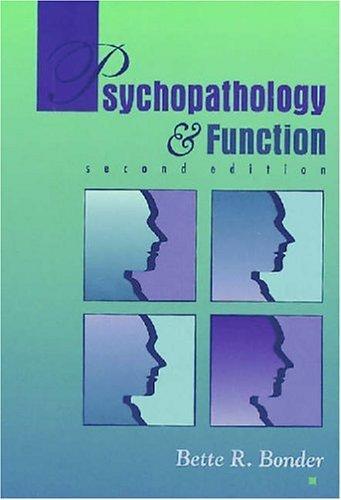 Psychopathology & Function