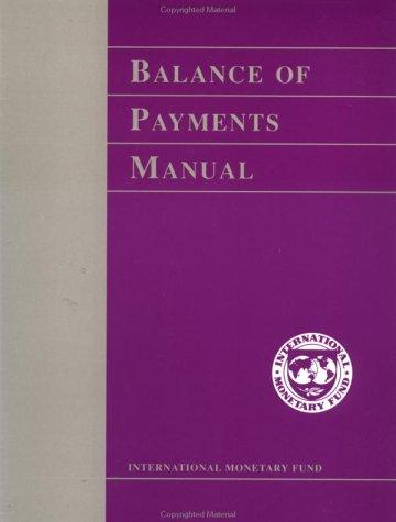 Download Balance of payments manual.
