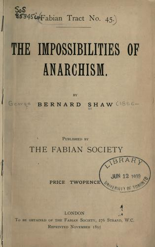 The impossibilities of anarchism.