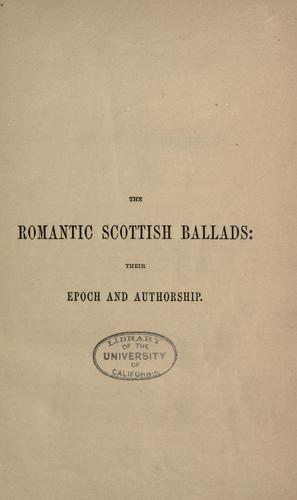 The romantic Scottish ballads