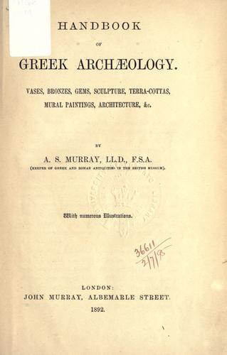 Download Handbook of Greek archaeology