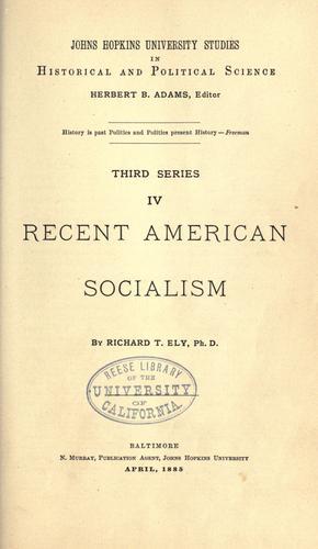 Download Recent American socialism