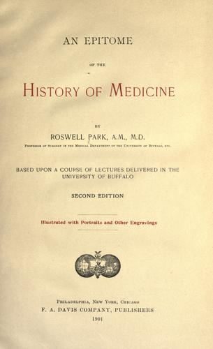 Download An epitome of the history of medicine