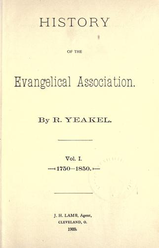 History of the Evangelical Association