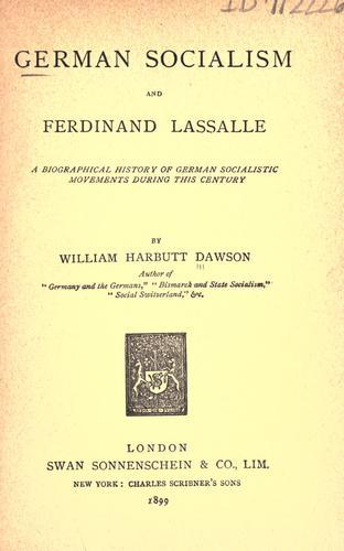 Download German socialism and Ferdinand Lassalle
