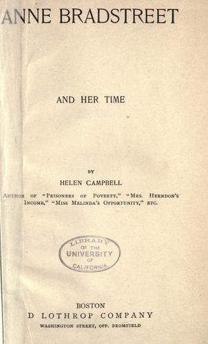 Download Anne Bradstreet and her time