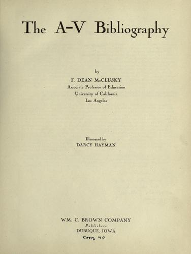 Download The A-V bibliography