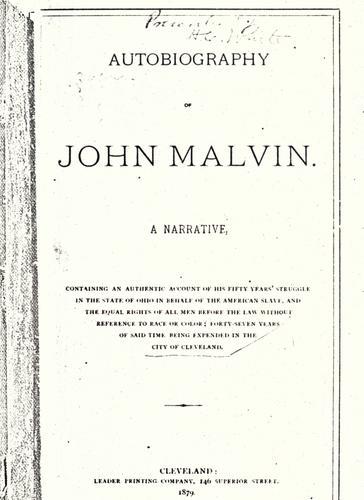 Download Autobiography of John Malvin