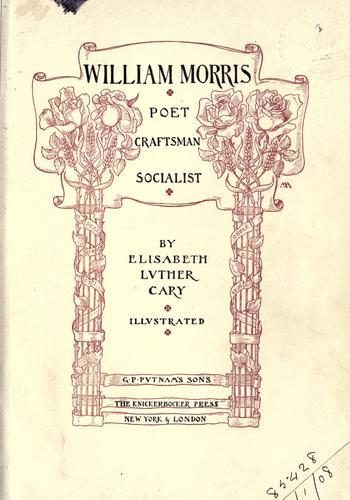 Download William Morris, poet, craftsman, socialist.