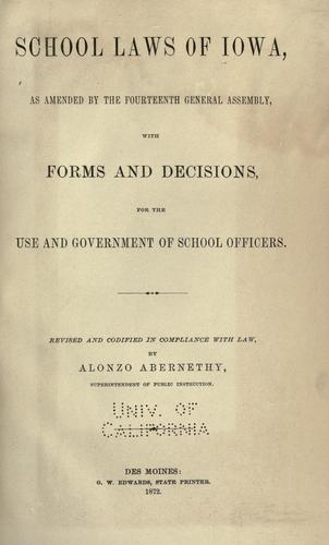 Download School laws, of Iowa