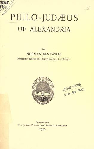 Philo-Judaeus of Alexandria.