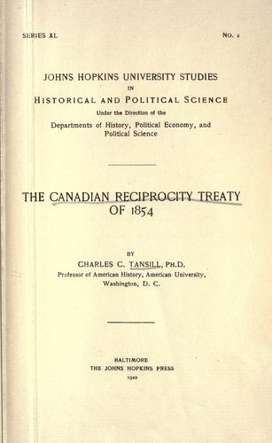 Download The Canadian reciprocity treaty of 1854.
