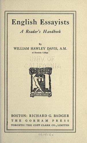 Download English essayists