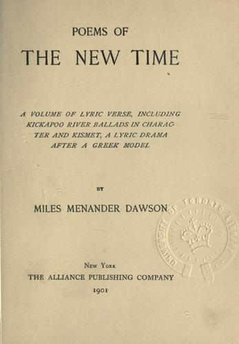 Poems of the new time