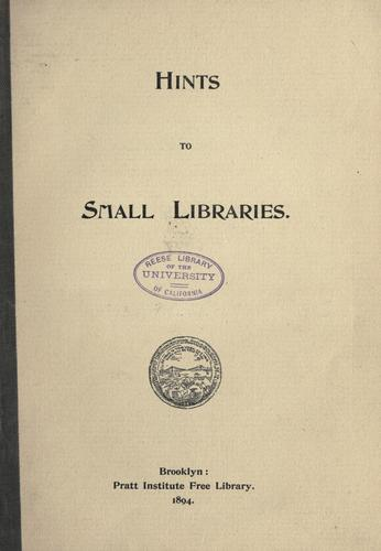Hints to small libraries.
