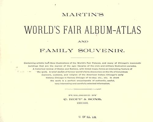 Martin's World's fair album-atlas and family souvenir …
