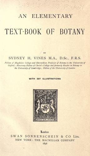 An elementary text-book of botany