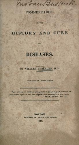Download Commentaries on the history and cure of diseases