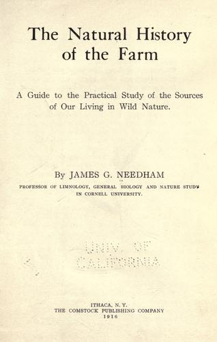 Download The natural history of the farm