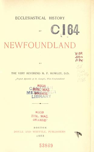 Ecclesiastical history of Newfoundland.