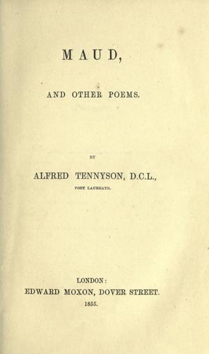 Download Maud, and other poems.