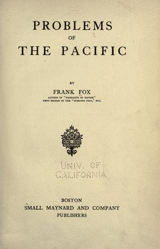 Download Problems of the Pacific