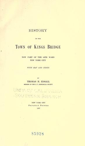 Download History of the town of Kings Bridge