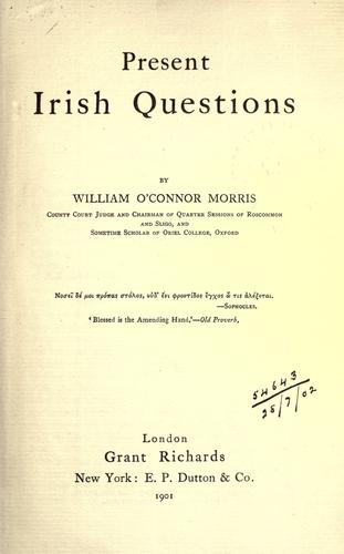 Present Irish questions.
