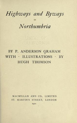 Download Highways and byways in Northumbria