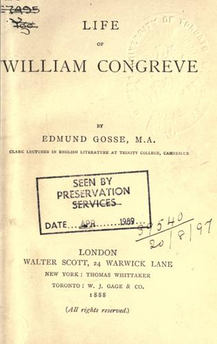 Download Life of William Congreve.
