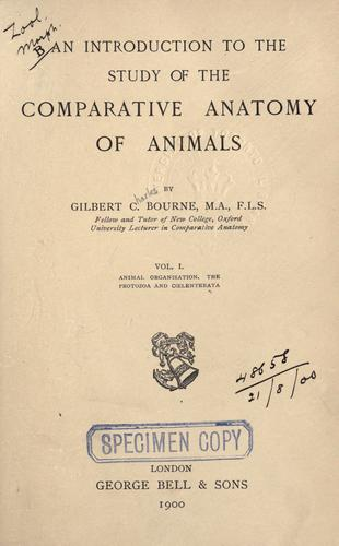 Download An introduction to the study of the comparative anatomy of animals.