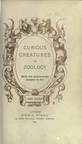 Download Curious creatures in zoology.