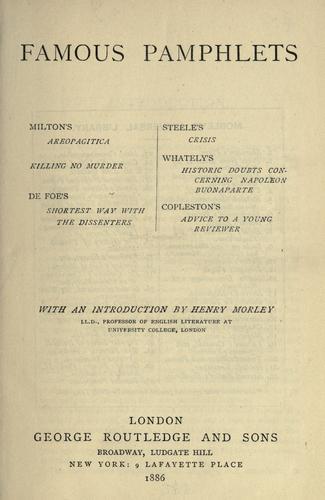 Famous pamphlets.