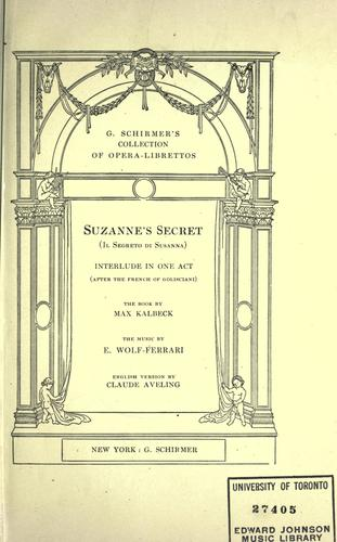 Suzanne's secret.