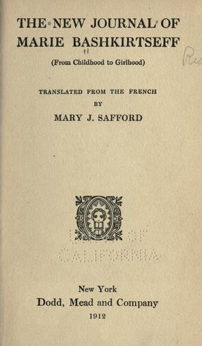 The new journal of Marie Bashkirtseff