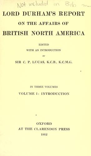 Download Report on the affairs of British North America.