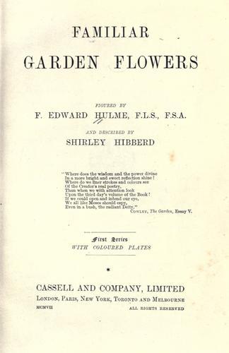 Download Familiar garden flowers
