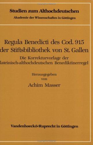 Download Regula Benedicti des Cod. 915 der Stiftsbibliothek von St. Gallen
