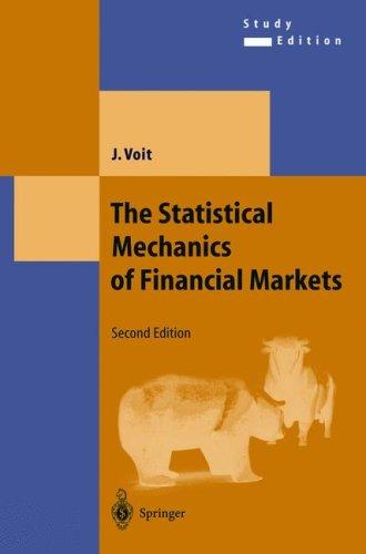 The statistical mechanics of financial markets