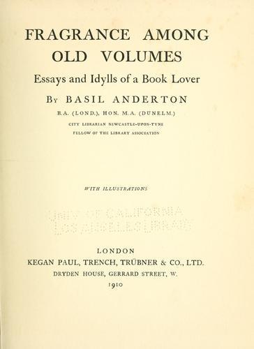 Download Fragrance among old volumes