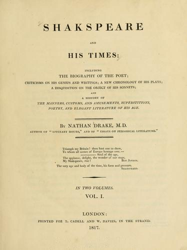 Download Shakespeare and his times