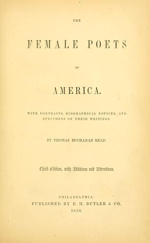 Download The female poets of America.