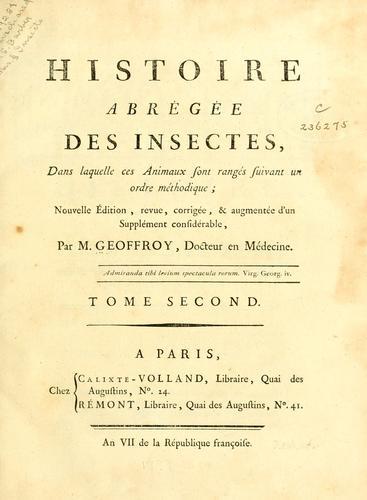 Histoire abrégée des insectes