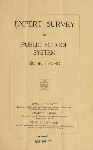 Download Expert survey of public school system, Boise, Idaho.