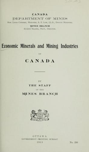 Economic minerals and mining industries of Canada