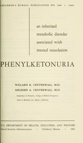 Download Phenylketonuria