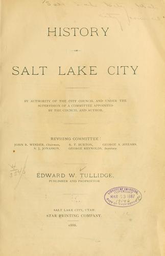 History of Salt Lake City.