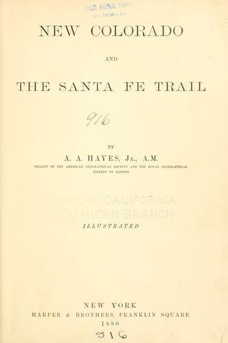Download New Colorado and the Santa Fé trail