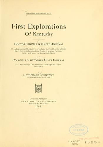 Download First explorations of Kentucky