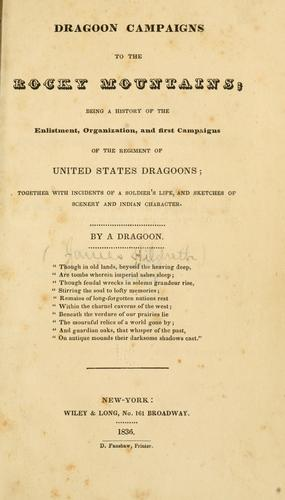 Download Dragoon campaigns to the Rocky Mountains